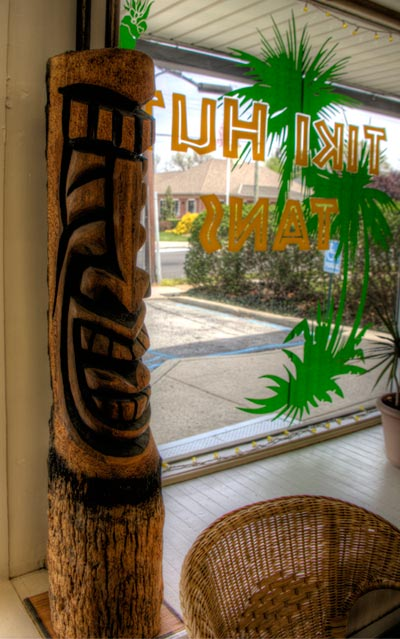 Our wood tiki totem