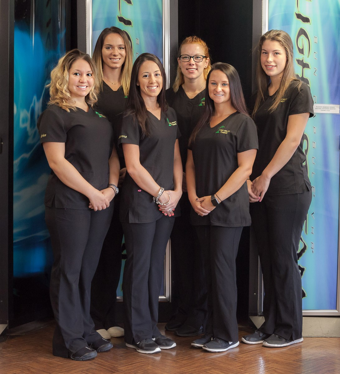 The team of ladies who work at the salon